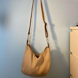 ALDO shimmery canvas crossbody bag